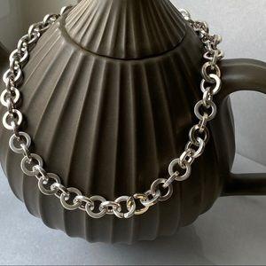 🛍 Tiffany & Co. Silver Round Chain Necklace